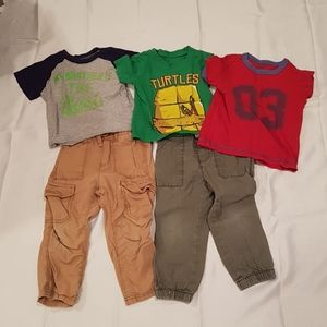 2/$20 Old Navy Lots of 2T boy pants and tops